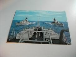 NAVE SHIP SCHIFF BATEAU GUERRA FREGATE PORTA- ELICOTTERI BERGAMINI E RIZZO - Guerra