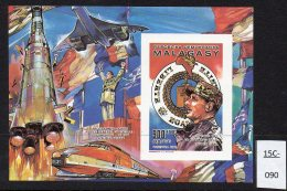 Madagascar 1989 De Gaulle Concorde Train Space IMPERF M/s Original Issue Without Opt -  MNH