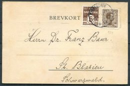 1925 Denmark Copenhagen, Danske Meteorlogiske Institut Postcard - Covers & Documents