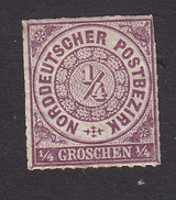North German Confederation, Scott #1, Mint Hinged, Number, Issued 1868 - North German Conf.