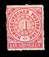 North German Confederation, Scott #4, Mint Hinged, Number, Issued 1868 - North German Conf.