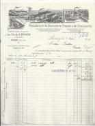 91 _ PUSSAY - GUILLERVAL - USINE DE BONNETERIE DRAPÉE & CHAUSSURES - LES FILS DE BRINON SUCC.- FACTURE ILLUSTRÉE 1919 - - Ligny En Barrois