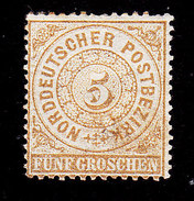 North German Confederation, Scott #6, Mint Hinged, Number, Issued 1868 - North German Conf.
