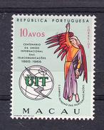MACAU   1964. CENTENARIO DA  U.I.T. CATALOGO AFINSA Nº 405 NOVOS Com CHARNEIRA.SES510GRANDE - Macao