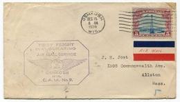 !!! 1ER VOL (FIRST FLIGHT) OSHKOSH WIS 15/12/1928 - 1c. 1918-1940 Cartas