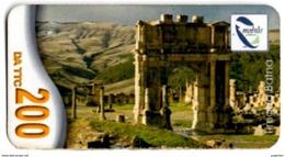 Phonecard Télécarte Mobilis Algérie Algeria - Timgad Roman Ruins Telefonkarte Telefonica