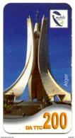 Phonecard Télécarte Mobilis Algérie Algeria - Alger Algier's Memorial Of Martyrs Telefonkarte Telefonica