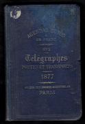 AGENDA DUNOS 1877 * TELEGRAPHE - POSTE -  TRANSPORTS - 243 Pages - à L'usage Des Télégraphistes - Electriciens - Postes - Livres, BD, Revues