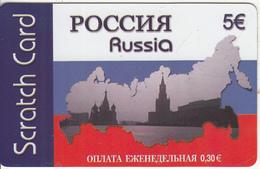 GREECE - Russia, Amimex Prepaid Card 5 Euro, Sample - Griechenland