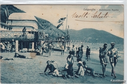 LAIGUEGLIA_Stabilimento Aquilia _Vg 1925 X Borgofranco- Originale D´epoca 100% - Italien