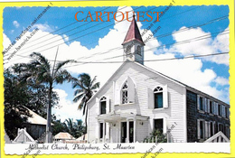 CPSM ANTILLE SAINT MAARTEN Methodist CHURCH PHILIPSBURG TOP (Photo Emily Plantz ) - Saint-Martin