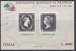 1985 Esposizione Filatelia Penny Black Usato - 6. 1946-.. Republic