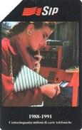*ITALIA - SIP: 150 MILIONI DI CARTE TELEFONICHE* - Scheda Usata (variante 134c) - Fouten & Varianten