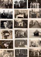 Lot De 18 Photos Originales Famille & Amis Dans Les Années 1930 - 1940 - Mode, Mobilier, Coiffures, Chapeaux, .... - Anonyme Personen