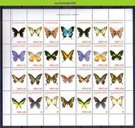 Ndr1296BPc FAUNA VLINDERS BUTTERFLIES SCHMETTERLINGE MARIPOSAS PAPILLONS SURINAME 2005 PF/MNH - Vlinders