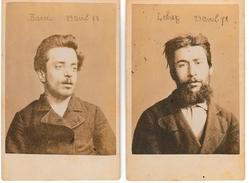 Debiez Et Barré , Assassins , Guillotinés En 1878 Photo D'identité Judiciaire - Anciennes (Av. 1900)
