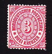 North German Confederation, Scott #21, Mint Hinged, Number, Issued 1869 - North German Conf.