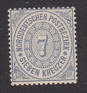 North German Confederation, Scott #22, Mint Hinged, Number, Issued 1869 - North German Conf.