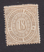 North German Confederation, Scott #23, Mint Hinged, Number, Issued 1869 - North German Conf.