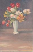AK Künstlerkarte - Vase Mit Tulpen - 1917 (28090) - Blumen