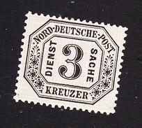 North German Confederation, Scott #O8, Mint No Gum, Number, Issued 1870 - North German Conf.