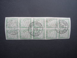 COLONIES GENERAL POSTAGE DUE: 15c Imperf BLOCK OF 10, With 'LONGMY 14/15  Janv 13 Cochinchine' Cds.