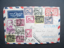 1949 Airmail Cover To PRAGUE, CZECH, Bearing Extraordinary Array Of Stamps