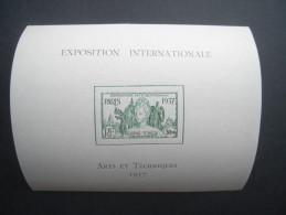 1937 Exposition Internationale MINIATURE SHEET. Fine MH. Yv BLOC 1