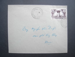 Cover Bearing 1945 15c VIET NAM DAN CHU CONG HOA Overprint (SG 14)  Tied By 'Hanoi' Cancel. Very Fine & Scarce