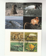FDC Maximum Card WHALES MARMOSET BIRDS PRARIE DOG Stamps United Nations Geneve Endangered Species Whale Bird Un Cover