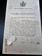 BRAZIL - BRASIL 1847 CARTA DE SAUDE - BILL OF HEALTH  Do Porto De SANTOS -  Ship Em Viagem A  MONTEVIDEO - Very Rare !!! - Documentos Históricos