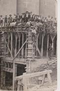 57 - HEMING - CARTE PHOTO - CONSTRUCTION DES SILOS - France