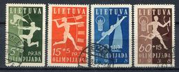 Lituania / Lietuva 1938. Yvert 362-5 USED