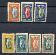 Lituania 1921. Yvert A 1-7 (ref 1) * MH.