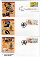 1988 Joint Finland Sweden And USA,  ALL 3 FDC´S FLEETWOOD: New Sweden 350 Years - Joint Issues