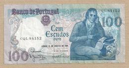 Bank Of Portugal - 100 Escudos Effigy: Bocage 1984 Banknote Billet De Banque Billete De Banco Nota De Banco - Portugal