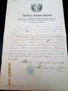 ALTONA - DEUTSCHLAND - 1846 BILL OF HEALTH For A DENMARK Ship To Travel To URUGUAY - Documentos Históricos