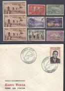 FRANCE Et AFRIQUE ! LETTRE 1er JOUR De Haute-Volta De 1959 Et Timbres Anciens De Guinée Et Guadeloupe Depuis 1930 - Guinée Française (1892-1944)