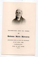 Religion--ésotérisme--carte Avis De Décès--Mme Marie MERCERON--1963--MONCOUTANT--79- - Religion & Esotérisme