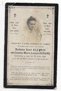 Religion-ésotérisme-carte Avis Décès-Mme René BLEYNIE Née DURAND Jeanne Marie-Louise--décédée Le 19 Mars 1901 à  22 Ans - Religion & Esotérisme