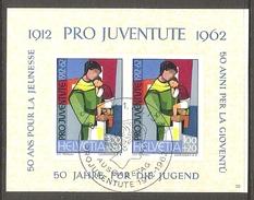 001066 Switzerland Pro Juventute 1962 Miniature Sheet FU - Pro Juventute