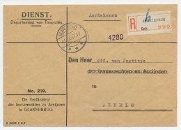 Dienst Aangetekend Glanerbrug - Almelo1947 - Invoerrechten - Periode 1891-1948 (Wilhelmina)