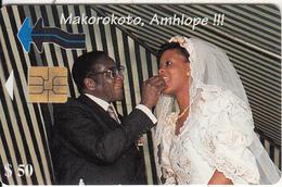 ZIMBABWE - Marriage Of President Mugabe 1, Tirage 20000, Exp.date 10/99, Used - Zimbabwe