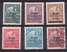 """MACAU 1936. CORREIO AÉREO. TIPO """"PADROES"""" COM SOBRECARGA  CATALOGO AFINSA Nº 1/6 . NUEVOS SEM GOMA   .SES511GRANDE - Macao"""