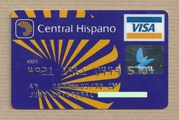 """Tarjeta De Crédito """"Banco Central Hispano Credit Card Crédit Card Cartão De Credito Visa - Tarjetas De Crédito (caducidad Min 10 Años)"""