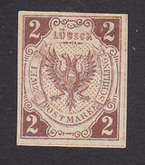 Lubeck, Scott #3 Reprint?, Mint Hinged, Coat Of Arms, Issued 1859 - Lubeck