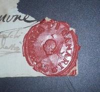 CORSE  Royaume Anglo-corse (1794/1796) Manuscrit Avec RARE Cachet Municipal CUMUNITA DI CANARI 7 Août 1796 - Manuscrits