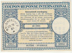Coupon-Reponse International * 1956 * Sweden * 60 Öre - Schweden