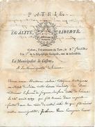 8 Fruct. An 2 CASTRES (81) à La Municipalité De LIMOUX (11) - Envoi D'un Portefeuille Trouvé DANS LES RÜÊS De Notre Cité - Documentos Históricos