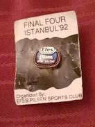 BASKETBALL CLUB EFES PILSEN TURKEY, FINAL FOUR 1992. ISTANBUL, ORIGINAL PIN BADGE - Basketball